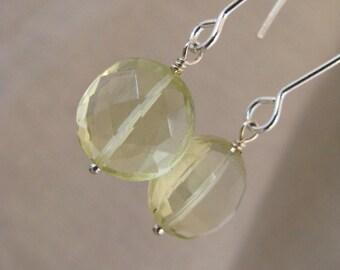 Lemon Quartz Earrings Lemon Quartz Long Dangle Earrings Lemon