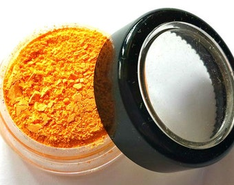 "Bright Orange Shimmer Eye Shadow - Neon Orange - ""Tangerine"" - Mineral Makeup - Eyeshadow"