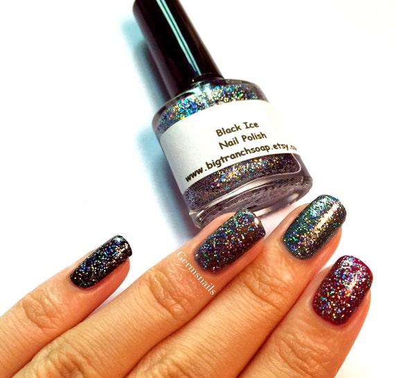 Black Holographic Glitter Nail Polish: Holographic Micro Glitter