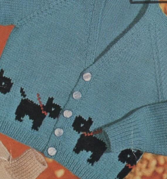 Knitting Pattern With Car Motif : PDF Knitting Pattern / Cars Trucks Dogs motifs baby cardigans / 8 ply yarn / ...