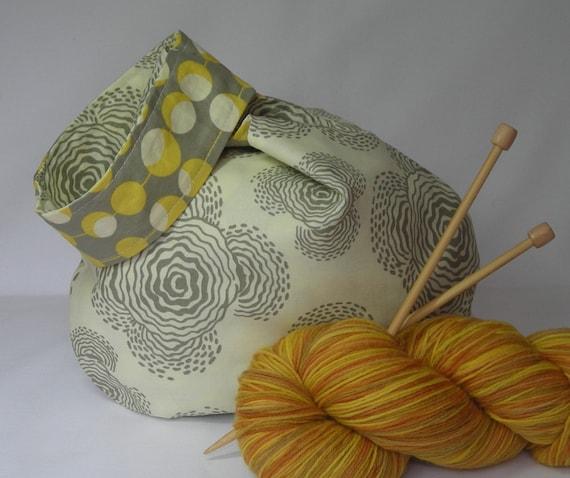 Sock knitting project bag - Japanese Knot bag - Crochet ...