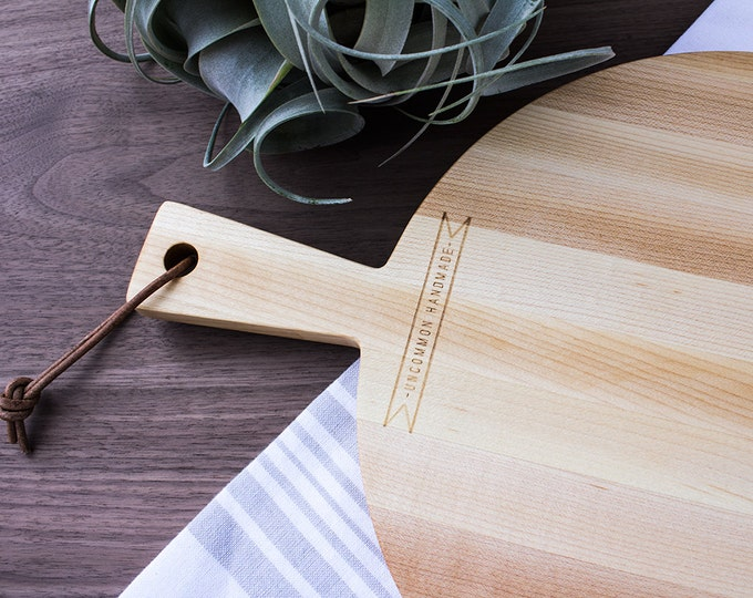 Wood Serving Board Maple - Rustic Wood Food Tray