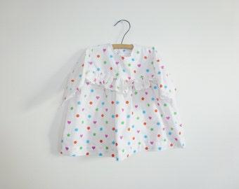 Vintage White Shapes Baby Dress