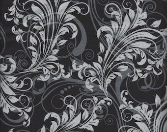 Price Reduced!  Black Swirl (35114-7) - BTY - Windham