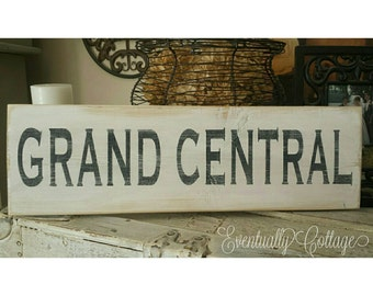 Hand painted Grand Central sign