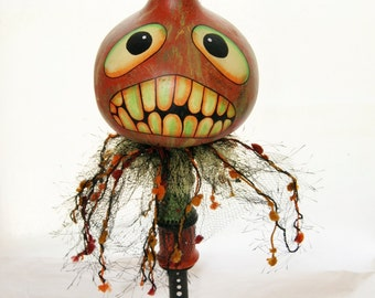 Halloween Gourd Head Haunted Swamp Holiday Home Decor Gourd Doll Figure