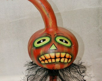 Halloween Gourd Haunted Swamp Holiday Home Decor Gourd Doll Figure