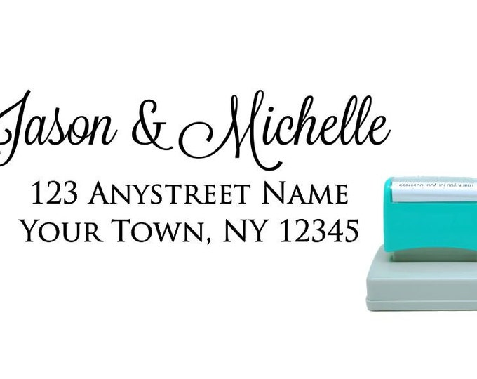 Personalized Self Inking Return Address Stamp - self inking address stamp - Custom Rubber Stamp R172