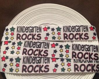 Grosgrain Ribbon kindergarten rocks 7/8 inch 1 yard