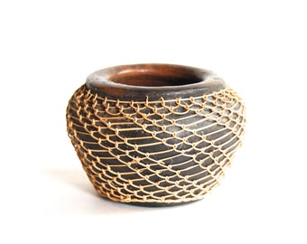 Vintage Pottery, Netted, Home Decor