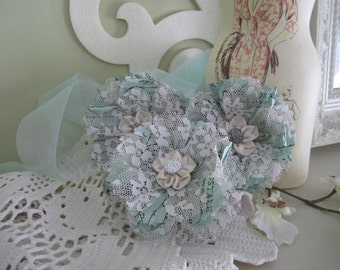 Handmade Paper and Lace Flowers - Decorative Lace Flowers