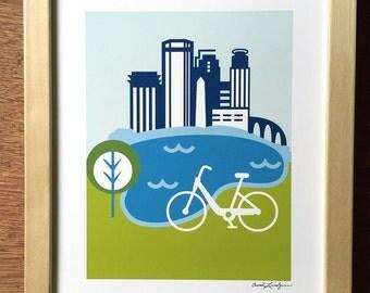 Minneapolis Bike Print