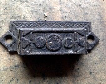 Antique Cast Iron type tray HANDLE Pull beautiful design