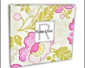 BABY BOOK | Amy Butler Midwest Modern Fresh Poppies Fuchsia Album | Baby Memory Book