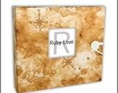 Pirate Treasure Map Album - Boy Baby Memory Book