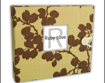 BABY BOOK | Sage Linen Branches Album | Ruby Love Modern Baby Memory Book