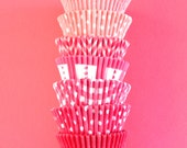 Assorted Ombre Pink Cupcake Liners (35)