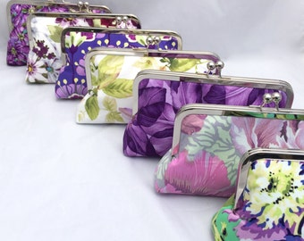 Floral Wedding Party Gift Handbag Clutch Spring Bridesmaids Gift Custom Made- Design your own