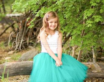 TEAL Junior Bridesmaid Tutu Skirt
