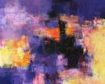 July 2015 - 3 - Original Abstract Oil Painting - 72.7 cm x 72.7 cm (app. 28.6 inch x 28.6 inch)