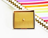 We All Want Ice Cream - Vintage Harwood Compact - Cosmetics - Accessories - Travel - Brass - 1950s - Summer - Beach - Powder - Women - Cone