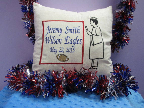 Pillow Cover Personalized Boy Silhouette Graduation