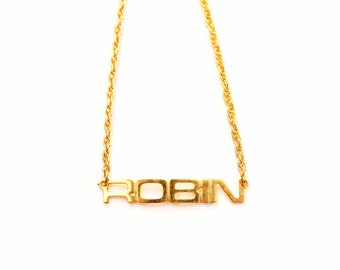 Vintage Name Necklace - Robin