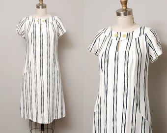 1960s Dress - Mod Stripe 60s Scooter Dress