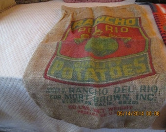 Sack, Potato, burlap, large size 1940's