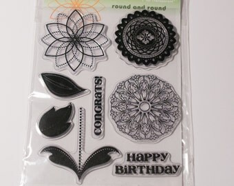 Penny Black Round and Round clear stamp set