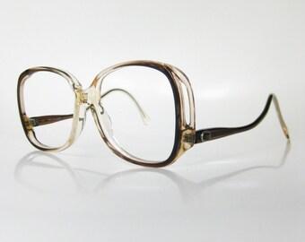 SALE Vintage Avant Garde Eyeglasses 1970s Womens Sunglasses Boho Chic Bohemian Light Brown Mocha 70s New Wave Sidewinder Indie Hipster