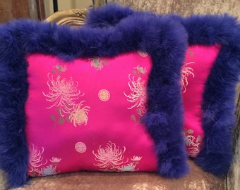 Pillow- Pink and Blue