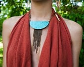 Cascading Gypsy Moon Necklace