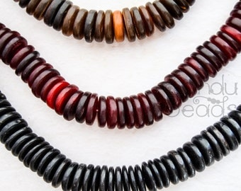 SALE 50% - Hairpipe Ox horn beads Huge Flat Disk Heishi Roundel Beads 20x5mm 10363-64-65 hair pipe