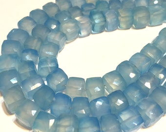 Chalcedony faceted 3D cubes 4 pieces