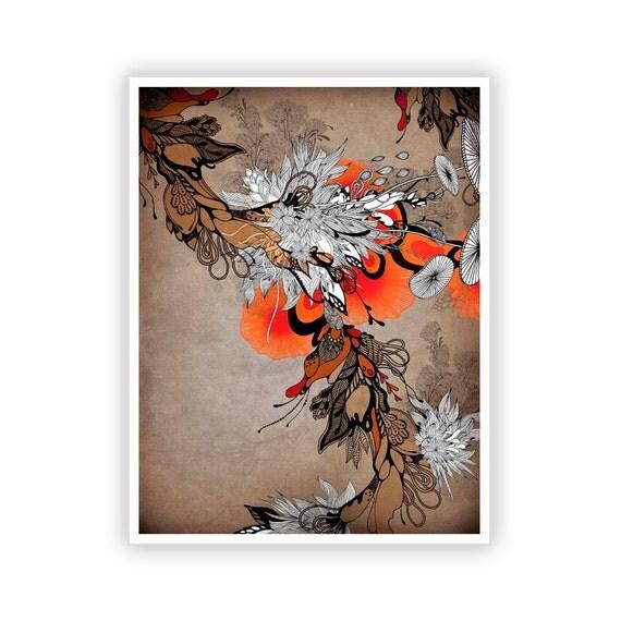 Sonnet by Iveta Abolina -  Floral Illustration Print