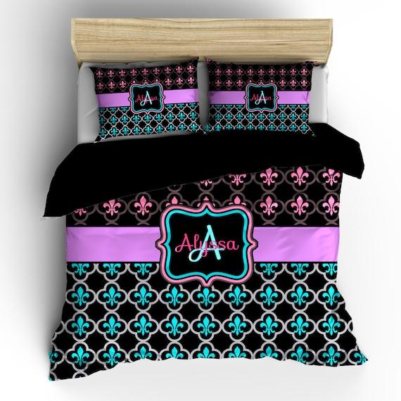 Items similar to pesonalized custom fleur de lis bedding - Fleur de lis bedspread ...