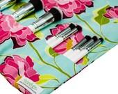 Makeup Brush Holder | Make Up Travel Case | Makeup Organizer | Rose Floral