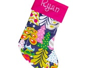 Personalized Christmas Stocking Blue Stocking Large Stocking | Navy Blue Stocking | CS0002 by Forshee Designs