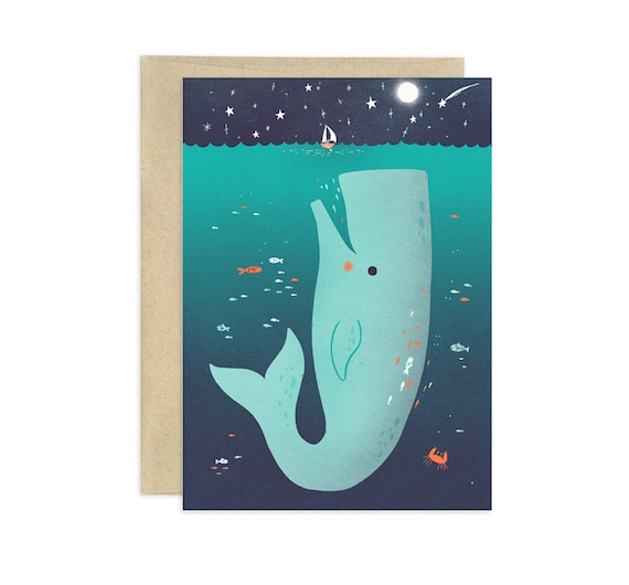 Jonah and the Whale Illustrated Greeting Card