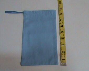 Light Blue Drawstring Pouch