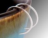 Tiny Half Inch Sterling Silver Hoop Earrings