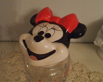 Vintage Walt Disney Company ~ Minnie Mouse ~ Party Jar Candy Jar Cannister