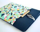 MacBook 12 inch Sleeve Padded Chromebook Case Microsoft Surface Case - Geometric