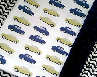 boy baby bedding   boy bedding  in CARS with  bumper set , fitted sheet, minky blanket  and crib skirt