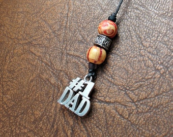 Beaded Bookmark - Book Thong - Number One Dad - Father's Day Gift