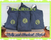 Personalized Bridesmaid Shirts, Bridesmaid Gift, Boyfriend Shirt, Monogram Wedding Cover Up, Set of 9