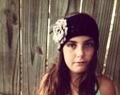 Crochet Ear Warmer with flower, Crochet Headband, Girls Earwarmer with flower, Girls Head Band, Womens Earwarmer