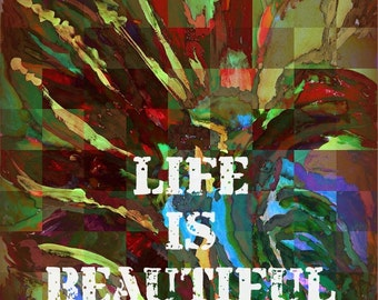 Art Print Life is Beautiful 8x10 Wall Art Print Home Decor Original Art