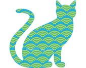 Cat applique template | PDF applique pattern | applique template